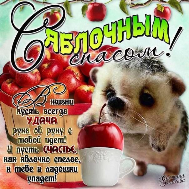 Поздравления с яблочным спасом в картинках~Яблочный Спас 2016